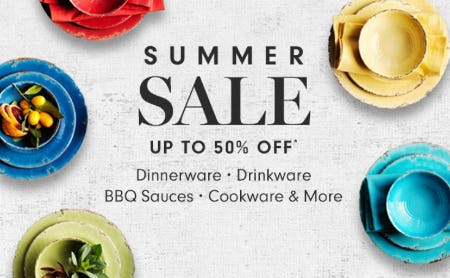 Summer Sale up to 50% Off from Williams-Sonoma