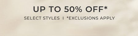 Up to 50% Off Select Styles from Chico's