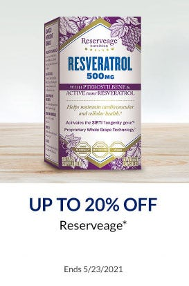 Up to 20% Off Reserveage from The Vitamin Shoppe