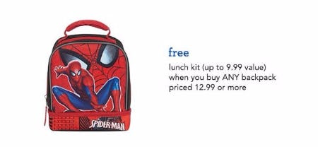 Free Lunch Kit with Backpack Purchase