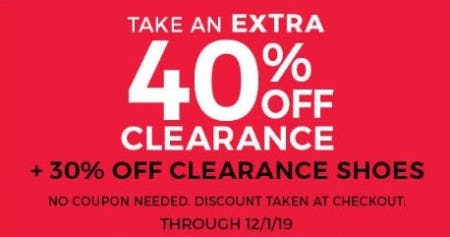 Extra 40% Off Clearance + 30% Off Clearance Shoes from Stein Mart
