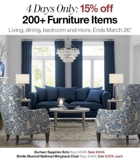 15% Off 200+ Furniture Items from Crate & Barrel