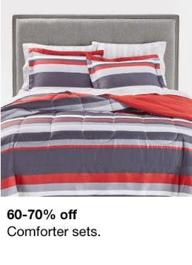 60-70% Off Comforter Sets from macy's