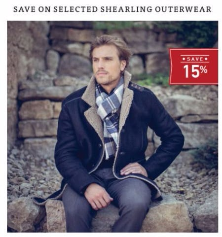 15% Off Selected Shearling Outerwear