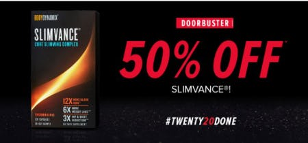50% Off SLIMVANCE from GNC