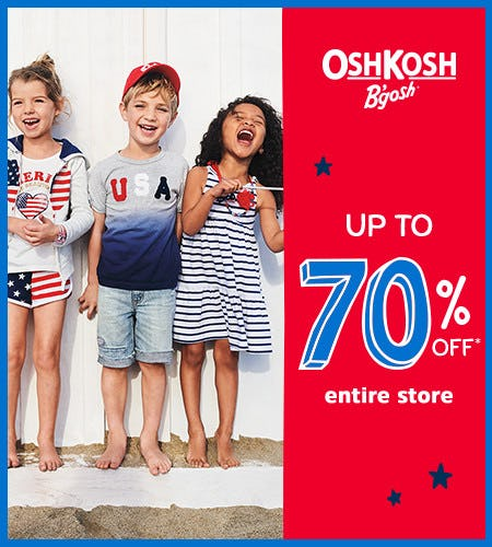 Up to 70% Off* Entire Store from Oshkosh B'gosh
