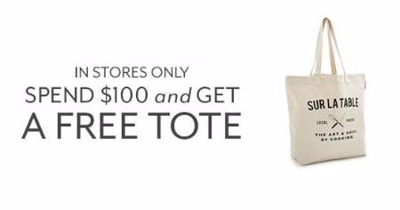 Free Tote with $100 Purchase