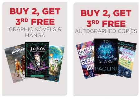 Buy 2, Get 3rd Free Graphic Novels and Manga and Autographed Copies