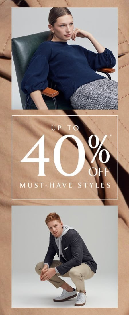 Up to 40% Off Must-Have Styles