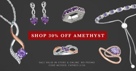 30% Off: February Birthstone Jewelry Sale from Rogers & Hollands Jewelers
