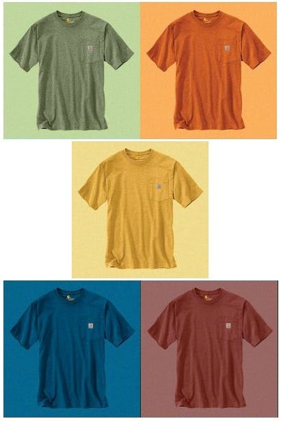 Our Workwear Pocket T-Shirts in New Colors from Carhartt