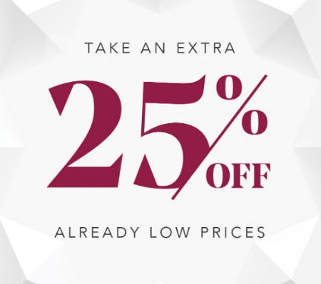 Take an Extra 25% Off Already Low Prices