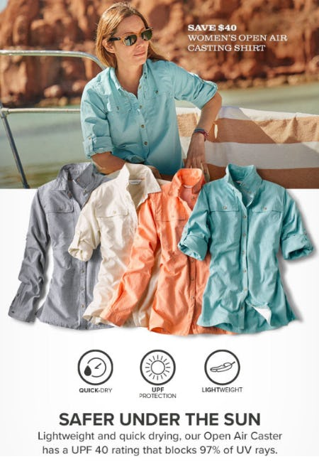 Save $40 Women's Open Air Casting Shirt from Orvis