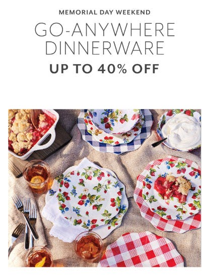 Up to 40% Off Dinnerware from Sur La Table
