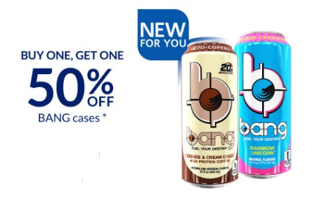 BOGO 50% Off Bang Cases from The Vitamin Shoppe