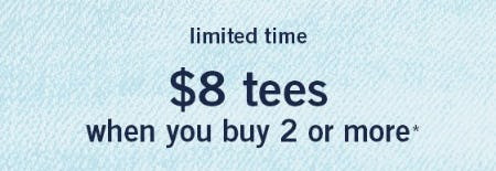 $8 Tees When You Buy 2 or More from abercrombie kids