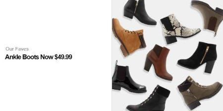 Ankle Boots Now $49.99 from Call It Spring