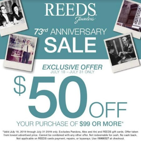 Anniversary Sale from Reed's Jewelers