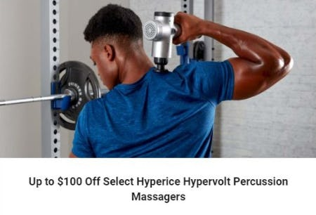 Up to $100 Off Select Hyperice Hypervolt Percussion Massagers from Dick's Sporting Goods