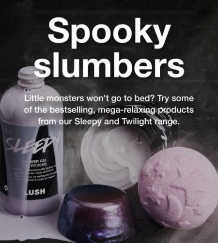 The Sleepy and Twilight Range from LUSH