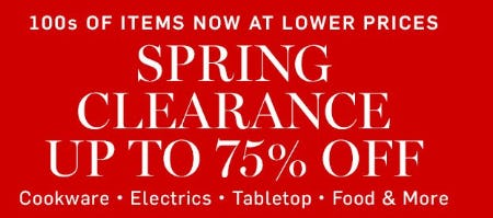 Spring Clearance up to 75% Off from Williams-Sonoma