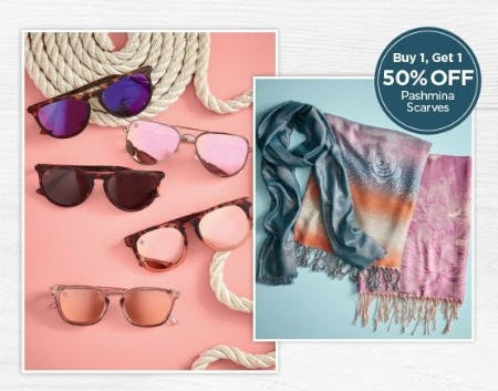 BOGO 50% Off Pashmina Scarves from The Paper Store