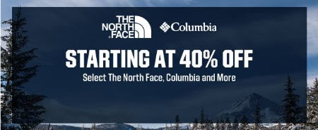Starting at 40% Off Select The North Face, Columbia and More from Dick's Sporting Goods