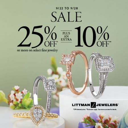 End of September Sale from Littman Jewelers