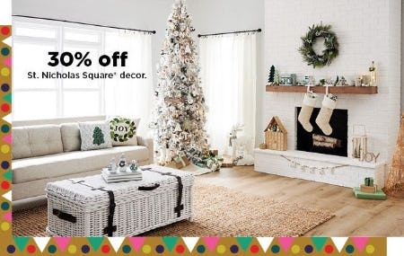 30% Off St. Nicholas Square Decor from Kohl's
