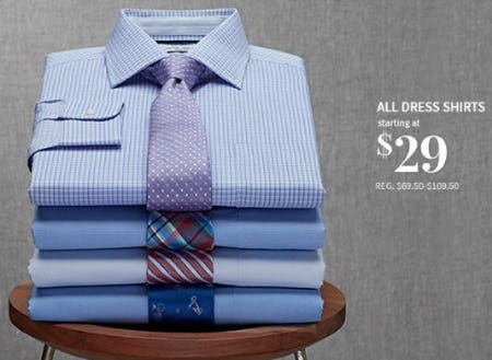 All Dress Shirts Starting at $29 from Jos. A. Bank