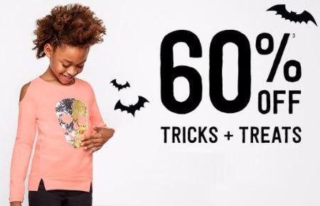 60% Off Tricks & Treats