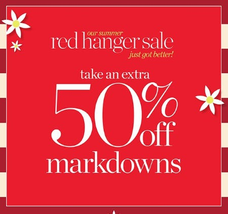 Extra 50% Off Red Hanger Sale from Talbots