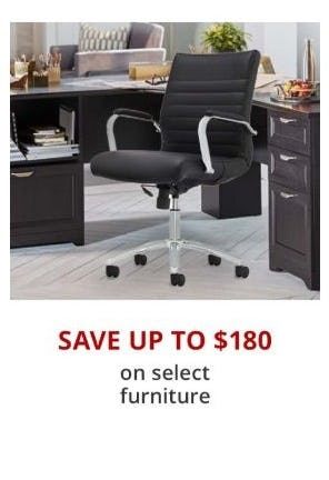 Up to $180 Off Select Furntiure