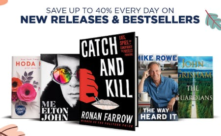 Save Up to 40% on New Releases & Bestsellers from Books-A-Million