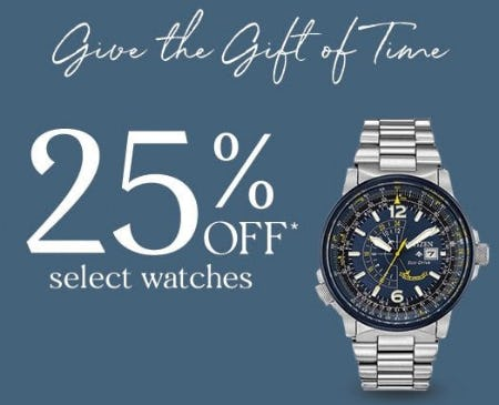 25% Off Select Watches from Zales The Diamond Store