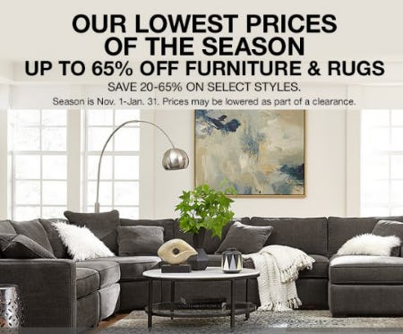 Up to 65% Off Furniture & Rugs