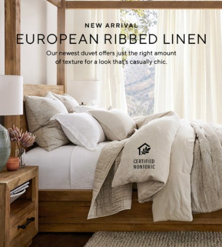 New Arrival: European Ribbed Linen from Pottery Barn