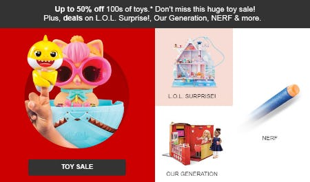 Up to 50% Off Toys Sale from Target