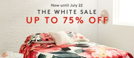 Up to 75% Off The White Sale from Nordstrom Rack