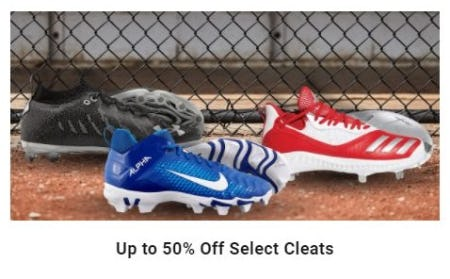 Up to 50% Off Cleats