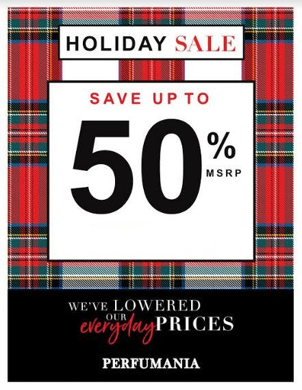 Holiday Sale up to 50% Off