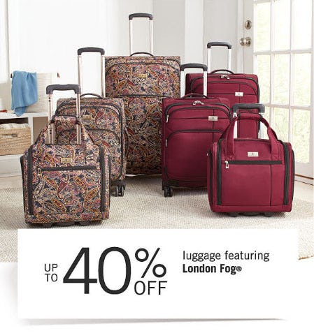 Up to 40% Off Luggage