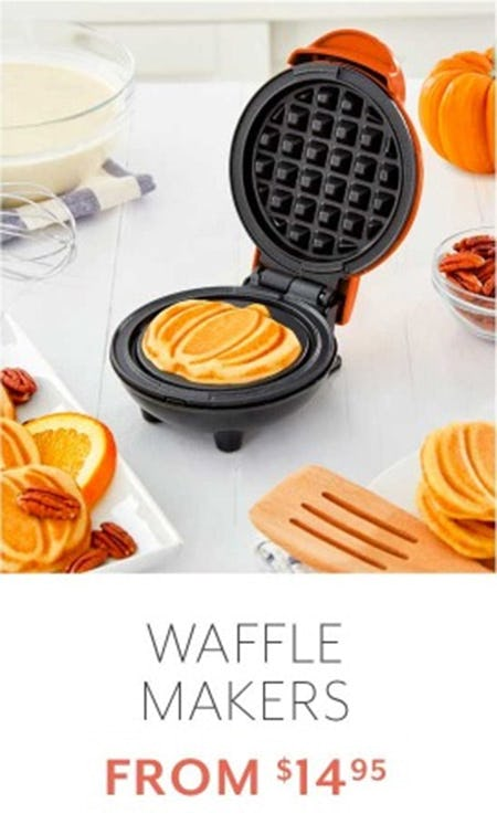 Waffle Makers from $14.95