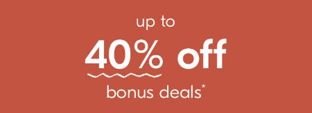 Up to 40% Off on Bonus Deals from West Elm