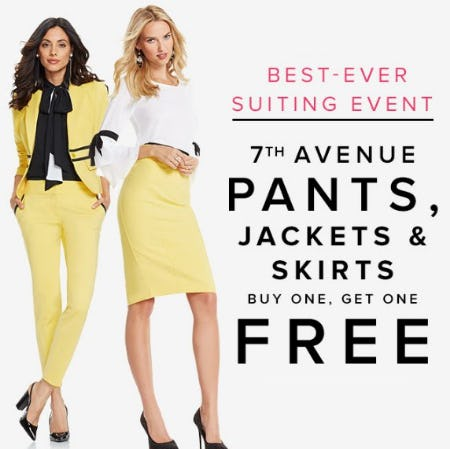 7th Avenue Pants, Jackets & Skirts Buy One, Get One Free from New York & Company