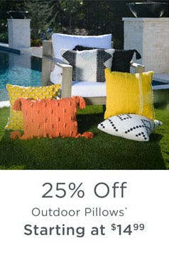 25% Off Outdoor Pillows