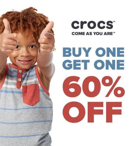 Presidents' Day - BOGO 60% from Crocs
