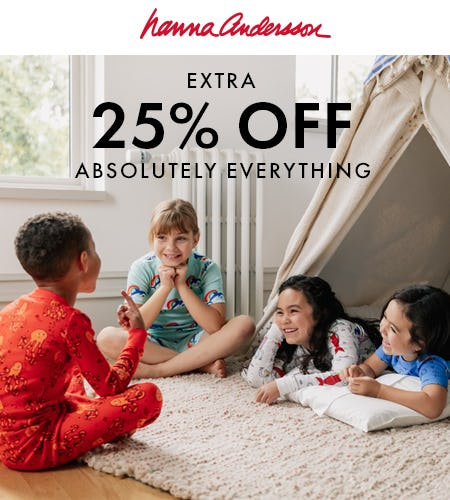 25% off EVERYTHING from Hanna Andersson