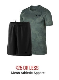Men's Athletic Apparel $25 or Less