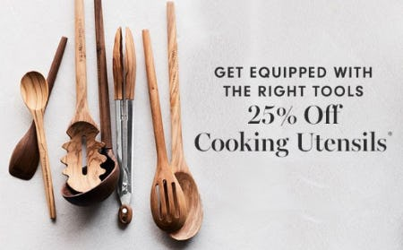 25% Off Cooking Utensils from Williams-Sonoma